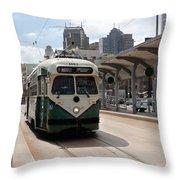 Streetcar Route Throw Pillow