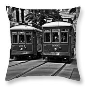 Streetcars New Orleans Throw Pillow