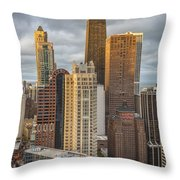 Streeterville From Above Throw Pillow