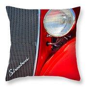 Streetrod Throw Pillow