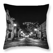 Streets Before Christmas Throw Pillow