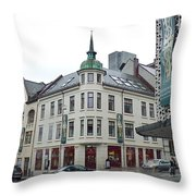 Streets Of Aalesund Throw Pillow