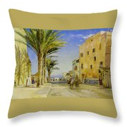 Streets Of Allergies Throw Pillow
