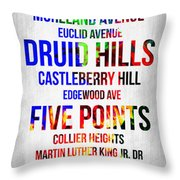 Streets Of Atlanta 1 Throw Pillow