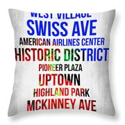 Streets Of Dallas 1 Throw Pillow