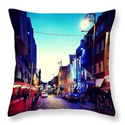 Streets Of Dublin Throw Pillow