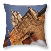 Streets Of Merida Throw Pillow