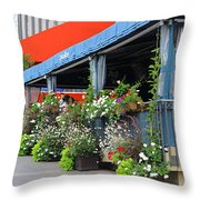Streets Of Montreal 1 Throw Pillow