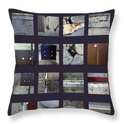Streets Of New York Poster Throw Pillow