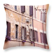 Streets Of Rome Throw Pillow
