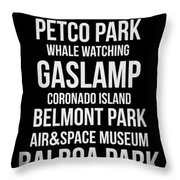 Streets Of San Diego 2 Throw Pillow