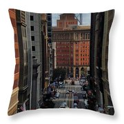 Streets Of San Fran Throw Pillow by Benjamin Yeager
