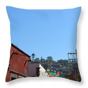 Streets Of San Miguel De Allende 2 Throw Pillow