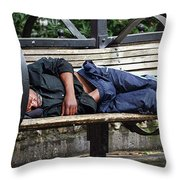 Streets Of Seattle Throw Pillow