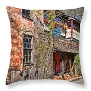 Streets Of St Augustine Florida Throw Pillow