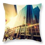 Streets Of Toronto Throw Pillow