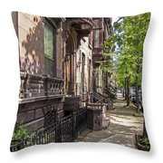 Streets Of Troy New York Throw Pillow