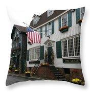 Streetscene Newport  -  Rhode Island Throw Pillow