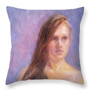 Strength And Beauty - Mariah Throw Pillow