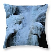 Strength Of Water And Ice Throw Pillow
