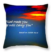 Strength When Weak Throw Pillow
