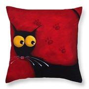 Stressie Cat Throw Pillow