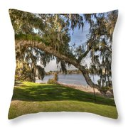 Stretch To The Water Throw Pillow