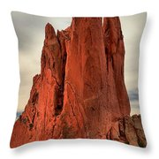 Stretched Upward Throw Pillow