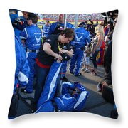 Stretchin' It Out In The Pits Throw Pillow