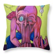 Stretching The Truth Throw Pillow