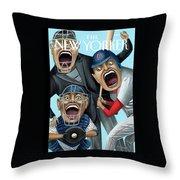 Strike Zone Throw Pillow