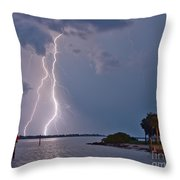 Strikes Throw Pillow