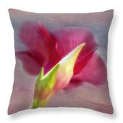Striking Hibiscus Flower Throw Pillow