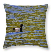 Striking Scaup Throw Pillow
