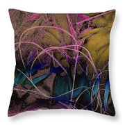 String And Fabric Throw Pillow