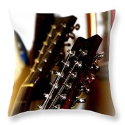 Strings Galore - Guitar Throw Pillow