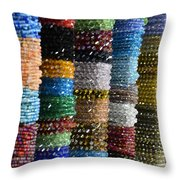 Strings Of Color Throw Pillow