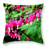 Strings Of Hearts Throw Pillow