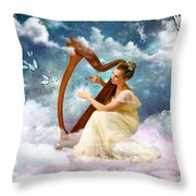 Strings Of My Heart Throw Pillow