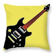 Strings Of Rock Throw Pillow