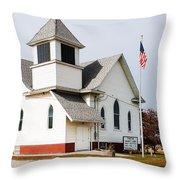 Stringtown Community Church Throw Pillow