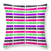 Stripe And Check Throw Pillow by Louisa Hereford