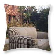 Striped Couch I Throw Pillow