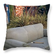 Striped Couch II Throw Pillow