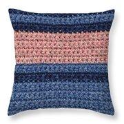 Striped Crochet Cloth Throw Pillow