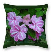 Striped Flower Throw Pillow