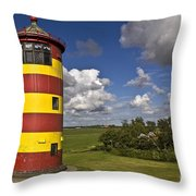 Striped Lighthouse Throw Pillow