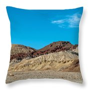 Striped Mountain Throw Pillow