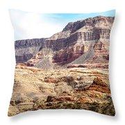 Striped Mountains Throw Pillow