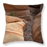 Striped Sandstone Throw Pillow